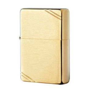Зажигалка zippo (зиппо) vintage brushed brass 240